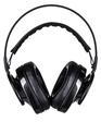 AudioQuest NightHawk Carbon Black headphones front white background single 2