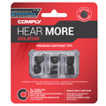 Comply Isolation T-Series In-Ear Memory Foam Tips Sennheiser is perfect for creating a good seal. Try an expandable foam tip today. Available online or at The Listening Post Christchurch Wellington, NZ.