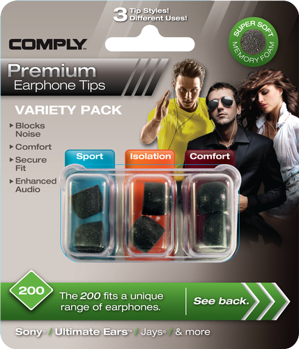 Comply Variety Pack 200 Foam Tips