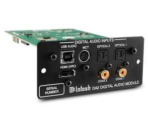 McIntosh DA2 Digital Audio Add-on Module allows you to add modern digital features such as usb or HDMI to compatible receivers. The DA-2 is compatible with all DA-1 amplifiers. Available online or at The Listening Post