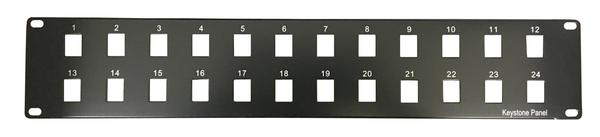 DCRM2U24PKEY 2U keystone blank plate for equipment racks from direct connect. Used in server rack Available as a 12 port or 24 port plate. Available at The Listening Post Christchurch and Wellington.