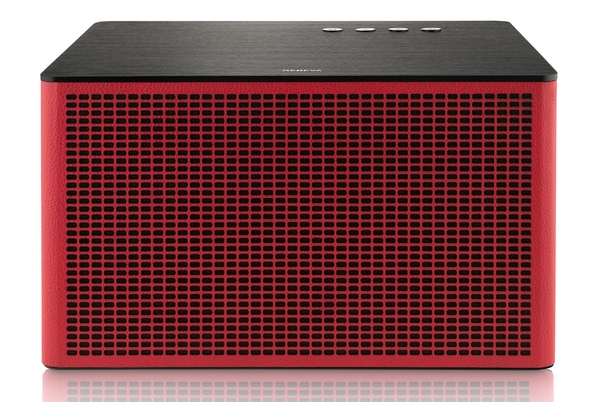 Geneva Acustica Lounge in Red Leather