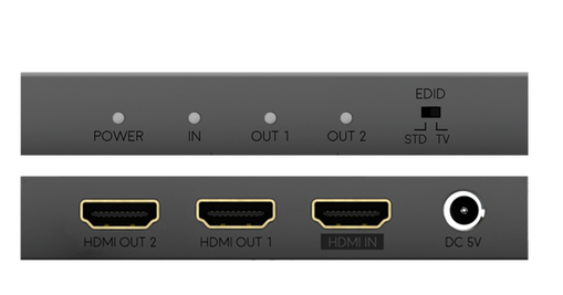 HD Anywhere has made a 4K HDMI splitter. The 1 x 2 HDMI Splitter MAX lets you split 1 source into 2 HDMI outputs. 1x2 splitter buy online or at The Listening Post Christchurch and Wellington.