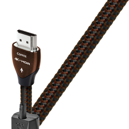 Audioquest Coffee HDMI cable uses 10% silver-plated solid core conductors. The AQ Coffee cable designed for 4k and even 8k.available online or at The Listening Post, Christchurch and Wellington.