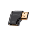 Audioquest HDMI right angle adapter helps when you have no space behind a tv. The 90° Nu/L adaptor lets the female socket face right. This Male female HDMI adapter is available online or at the Listening Post, christchurch and wellington.