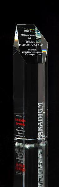 Paradigm´s 22nd Award for Best Price / Value