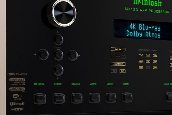 McIntosh MX123 A/V Home Theatre Processor is all you need for your home cinema needs. With 13.2 channels and 10 HDMI ports, the MX 123 will do everything. Available at The Listening Post Christchurch and Wellington.