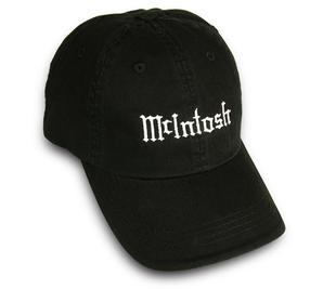 Headwear McIntosh branded cap so you can keep sun smart in style! This McIntosh one size fits all hat is available online or at The Listening Post Christchurch or Wellington, NZ.