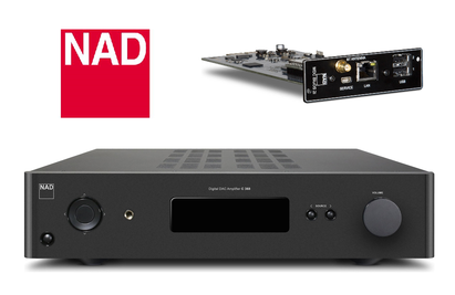 Now you can make the most of your NAD C368 Integrated Amplifier with the BluOS 2i to enable high resolution audio streaming and wired and Wi-Fi options. Available online at The Listening Post Christchurch and Wellington.