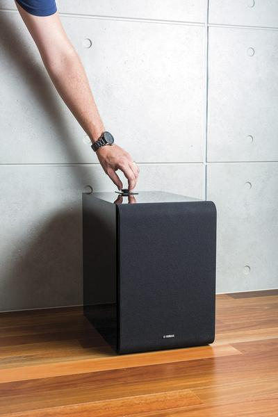 Yamaha NS-NSW100 Sub 100 MusicCast Subwoofer lets you add the bass kick to your music cast system. The sub100 gives you the ultimate soundstage while giving you the joy of multiroom audio. The NS NSw100 is available online or at The Listening Post Christchurch and Wellington, NZ.