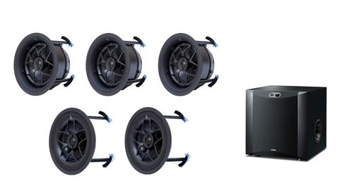 Yamaha´s 130W NS-SW300 subwoofer with a 5.1 surround sound package using Origin Acoustic´s amazing Director in-ceiling speaker range. Available at The Listening Post Christchurch and Wellington, NZ. TLPCHC TLPWLG