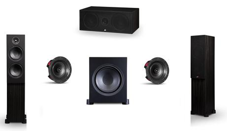 PSB Alpha Series 5.1 Package 3 gives you the Alpha C, T and CS speakers with the Sub8 subwoofer. This 5 speaker package starts your home theatre surround sound journey. Available online at The Listening Post, NZ.