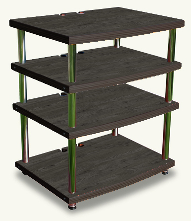 Soul to Sole EQ Rack in Fumed Oak