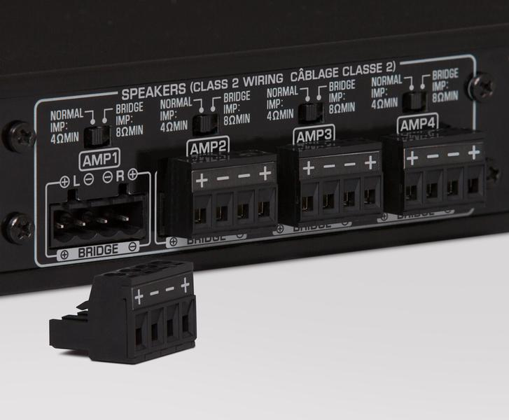 The XDA-AMP5400 Power Amp makes multiroom power control easy. the amp-5400 amplifier gives 50W per channel and can handle 4 zones. This makes it the perfect match with the QS5400. XDAAMP5400 available online or at The Listening Post, Christchurch and Wellington.
