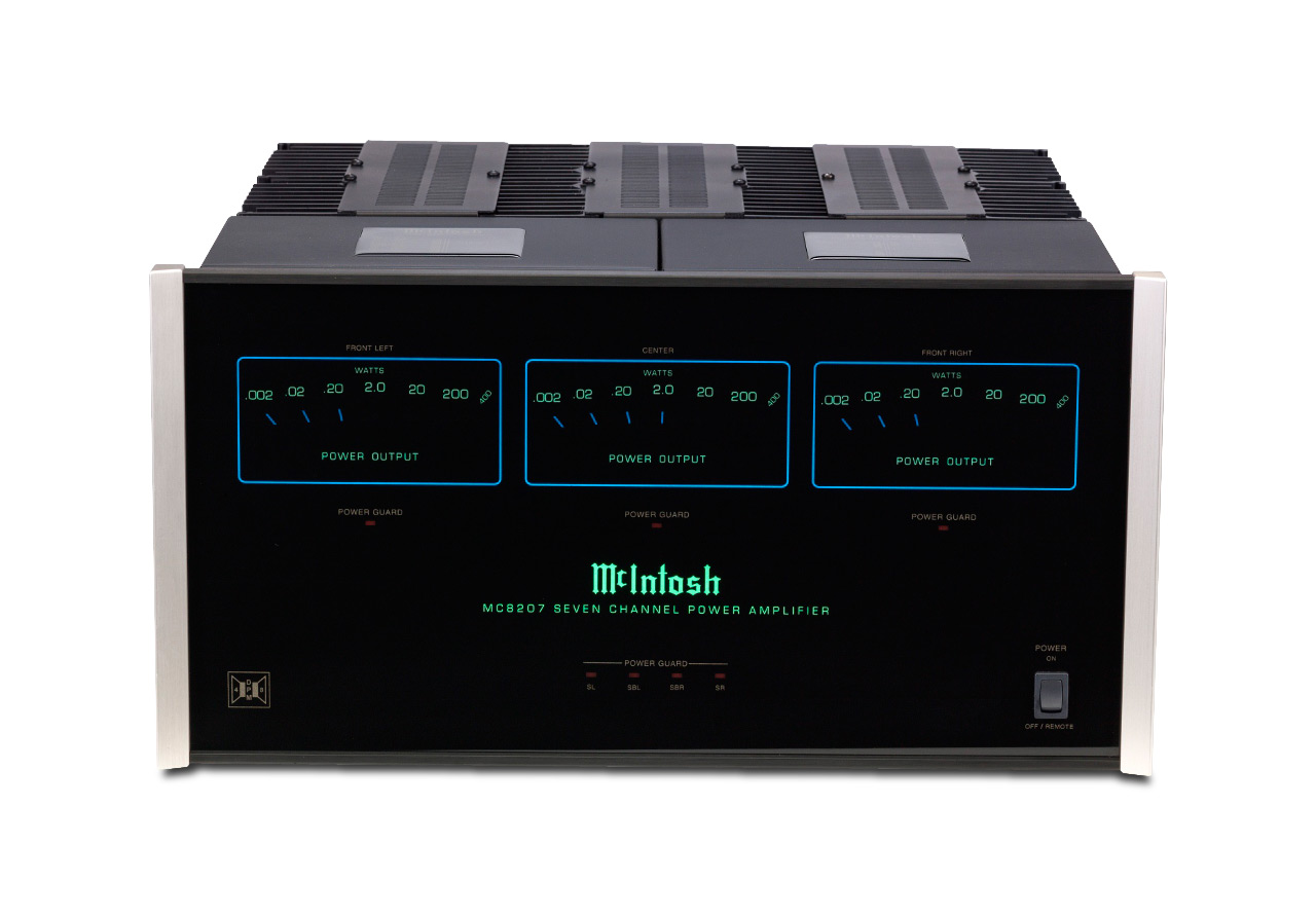Mcintosh Mc8207 7 Channel Power Amplifier The Listening Post Compatible With Tv Audio