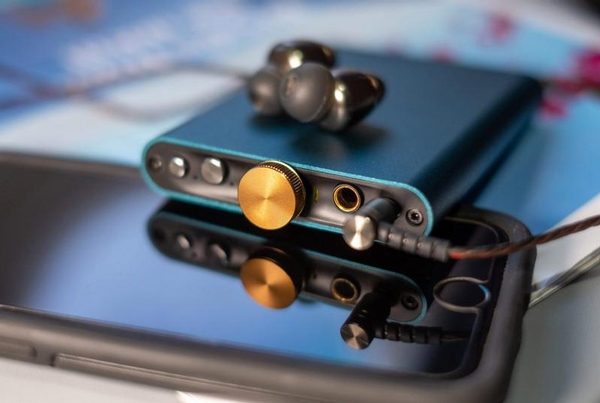 iFi Hip Dac with Headphones