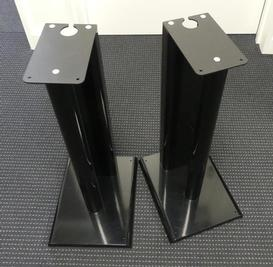 Q Acoustic Q2000 Gloss Black Speaker Stands. Available second hand at The Listening Post Christchurch.