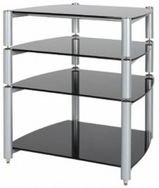 Alphason ST560 4-Shelf Rack in Silver